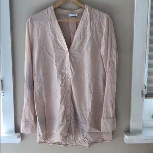 VINCE silk long shirt